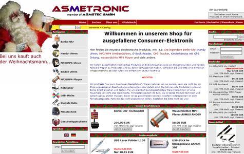 der neue Asmetronic Webshop