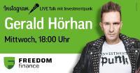 Instagram LIVE Talk mit Investmentpunk Gerald Hörhan und Andrey Wolfsbein