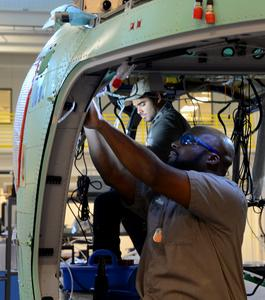 The UH-72A Lakota is manufactured in Columbus, Mississippi, by a workforce that is more than 50 percent military veterans