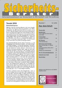 Sicherheits-Berater: Branchentrends 2016