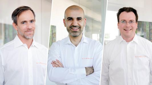 CARSYNC Geschäftsführung: Frank Necker (CTO), Amir Roughani (CEO), Timo Bungardt (Co-CEO)