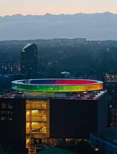 A rainbow over Aarhus
