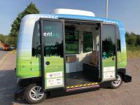 Der nachfragegesteuerte autonom fahrende Bus kommt vom Hersteller EasyMile
