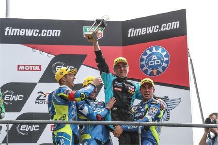 SERT auf dem Podium der 24 Stunden von Le Mans, Foto: David Reygondeau, Good-Shoot.com