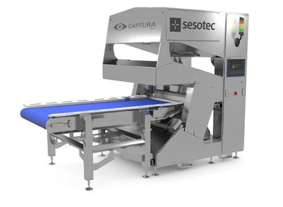 Sesotec's newly developed CAPTURA FLOW sorting system removes organic and inorganic contaminations from fresh, frozen, dried, cut, poured, and packed food products (Photo: Sesotec GmbH)