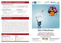 """Flyer """"Best of Beethoven"""" Ideenmark"""