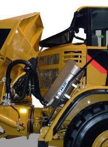 Baumaschine mit HJS Diesel-Partikelfilter