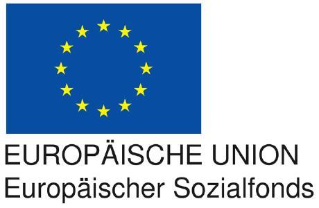 EU-Logo Europäischer Sozialfonds