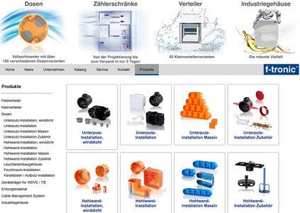 Neuer Webkatalog und erweiterter Downloadbereich von f-tronic