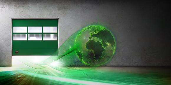 Geschwindigkeit im Unternehmen mit den schnelllaufenden Sektionaltor von ASSA ABLOY Entrance Systems