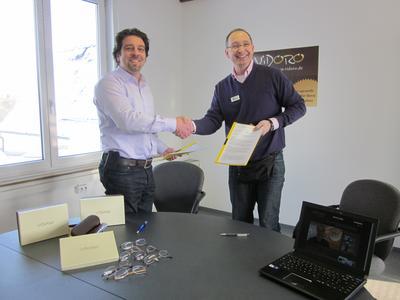 Martin Birk[ViDORO] und Peter Pavlovski[RootconnecT]