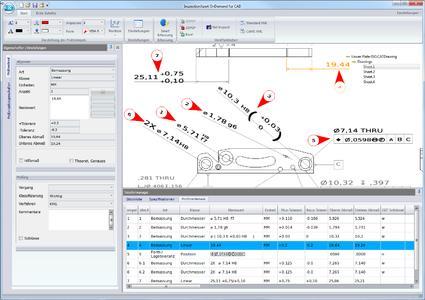 Neue Version InspectionXpert OnDemand für CAD auf Deutsch verfügbar