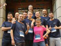 Das Team des SAP-Archiv-Spezialisten KGS Software beim J.P.Morgan Firmenlauf am 12. Juni 2019, Foto KGS Software