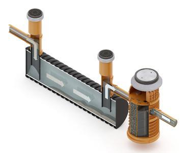 as modular aufgebaute Regenwasserbehandlungssystem RAUSIKKO HydroMaxx hat die DIBt-Zulassung erhalten. Bildrechte REHAU