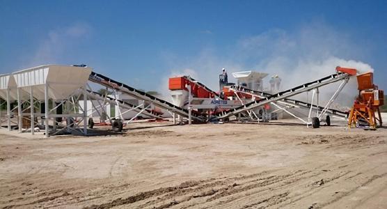Produktionsanlage auf Ana Sofia; Foto: Centurion Minerals
