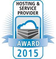 Hoster & Service Provider  Award 2015