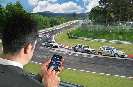 Besitzer eines Apple iPhone erleben Autorennen zukünftig aus der Sicht des Rennleiters.