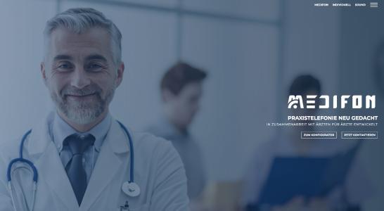 Neue MEDIFON®-Webseite mit Telefonanlagenkonfigurator für Ärzte