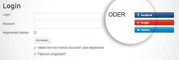 Einfaches Social Login Beispiel für den Registrier- und Loginprozess