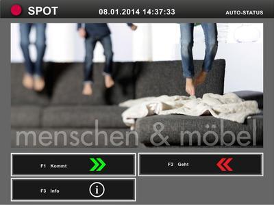 Screenshot Personalzeiterfassung