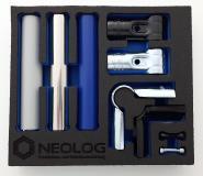 NeoLog zeigt Shadowboards von OSAAP – Inbegriff eines ergonomischen, aufgeräumten und sauberen Arbeitsplatzes im Geiste von Kaizen (Bild:  NeoLog )