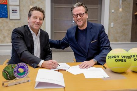 Look forward to the cooperation: Ralf Weber (left), Tournament Director of the GERRY WEBER OPEN, and Philip Harting, Board Chairman of the HARTING Technology Group