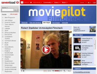 Aktuelle Filmtipps bei sevenload mit Robert Stadlober