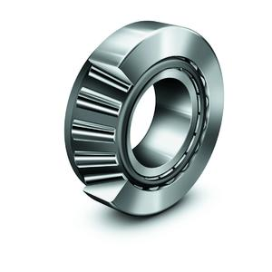 FAG tapered roller bearing in X-life quality: Optimized contact geometry between the rolling element end face and inner ring rib allows power loss to be significantly reduced (Image: Schaeffler)