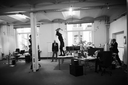 Wahnsinn im Büro - Dreharbeiten bei NovaStor