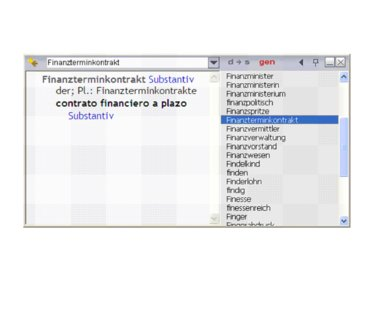 Deutsch-Spanisch Wörterbuch mit automatisch aufbereiteten und geprüften Fachwortschätzen