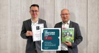 Vincent Fourmi (links) und Rainer Unsöld (rechts), die Vorstände der Woodmark Consulting AG, freuen sich über die erneute Auszeichnung zum Top Arbeitgeber Mittelstand.
