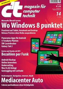 Das Titelbild der aktuellen c't-Ausgabe 14/2012