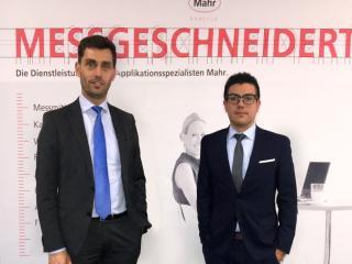 Manuel Hüsken, Vice President Global Sales bei Mahr, und Cesar Weigmann, neuer Geschäftsführer der Mahr Metrologia SL.