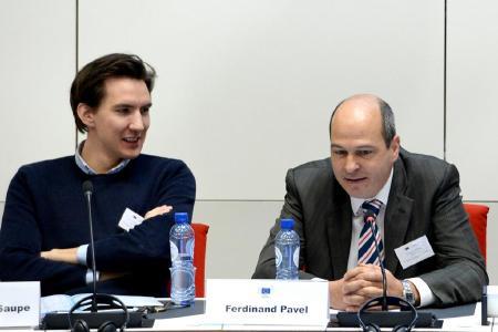 Jan Christian Saupe diskutierte bei der EURIPIDIS rege mit