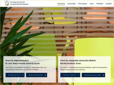 Die Praxisgemeinschaft für ganzheitliche Medizin präsentiert sich mit einer neuen Internetseite