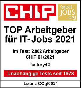 Siegel TOP IT-Arbeitgeber 2021 factory42