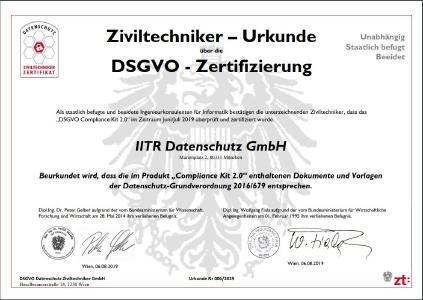 Datenschutz-Management-System: Zertifizierung Compliance-Kit 2.0