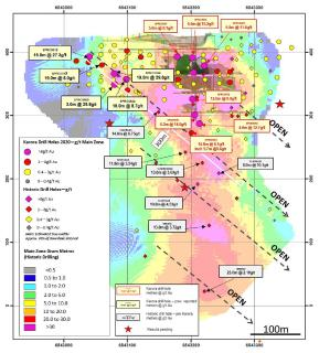 Drilling at Spargos Reward Extends High Grade Gold Plunging Shoot to Over 300 metres Down-Plunge With Intersection of 6.1 g/t Over 14 metres as Resource Definition Drilling Completed Ahead of Resource Update