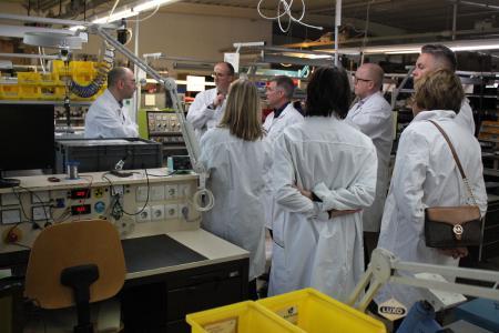 Die Gäste erhielten interessante Einblicke in die Produktion