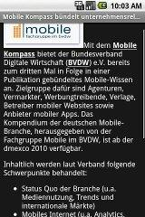 mobileTicker for Android - News View