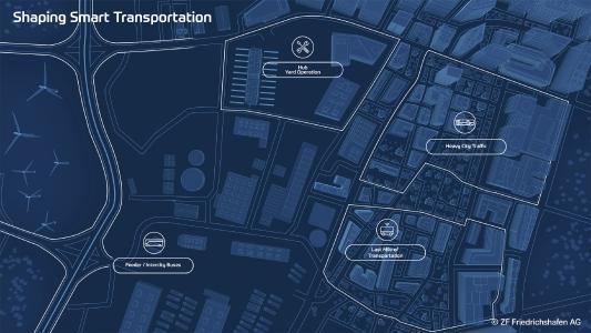 Smarte Lösungen für einen attraktiven Nahverkehr: ZF bietet Systeme für alle Bereiche einer vernetzten und emissionsfreien urbane Mobilität / Bild: ZF