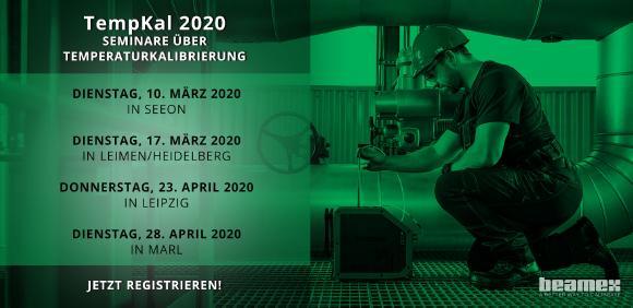 Beamex TempKal Seminare zum Thema Temperaturkalibrierung in Seeon, Leimen/Heidelberg, Leipzig und Marl