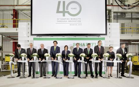 Opening ceremony for the expansion of the Wooster plant, Photo: Schaeffler