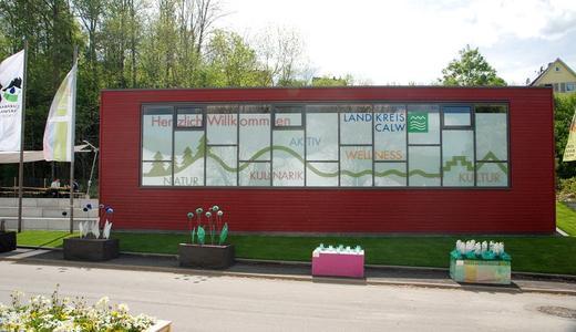 Gestaltet von Messebau Keck: der Landkreis Pavillon Calw auf der Landesgartenshow Nagold 2012