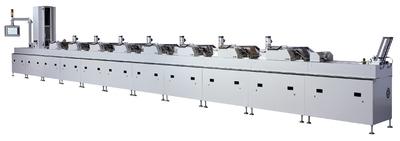 OC 200 mit optional erhältlichem Paternosterturm für hohen Glanzgrad von appliziertem UV-Lack