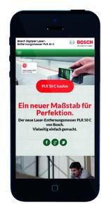 Mobile Version der Microsite