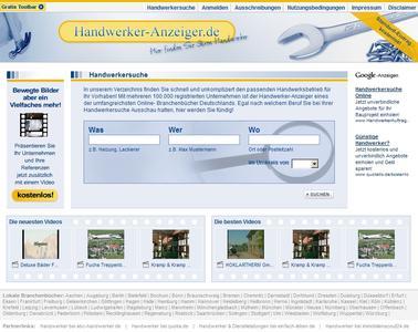 Screenshot Handwerker-Anzeiger