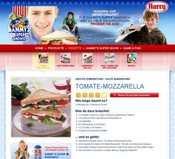 Sammy's Super Site - Rezept: Tomate-Mozzarella