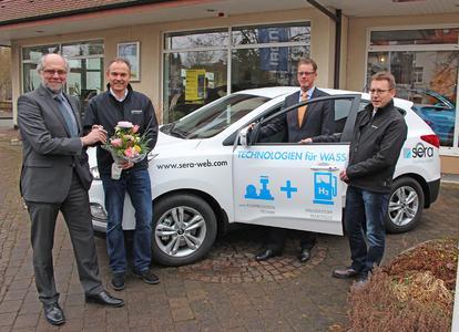 sera Brennstoffzellenfahrzeug in Fahrzeugpool übernommen