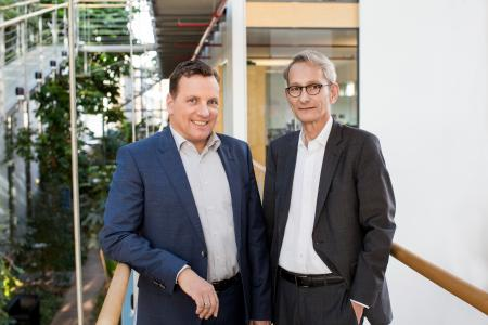 Dieter Aichert (links), Dr. Karl Brunn (rechts)